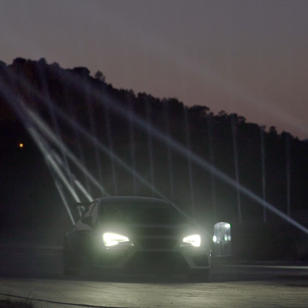 Cupra Race Track Light Show