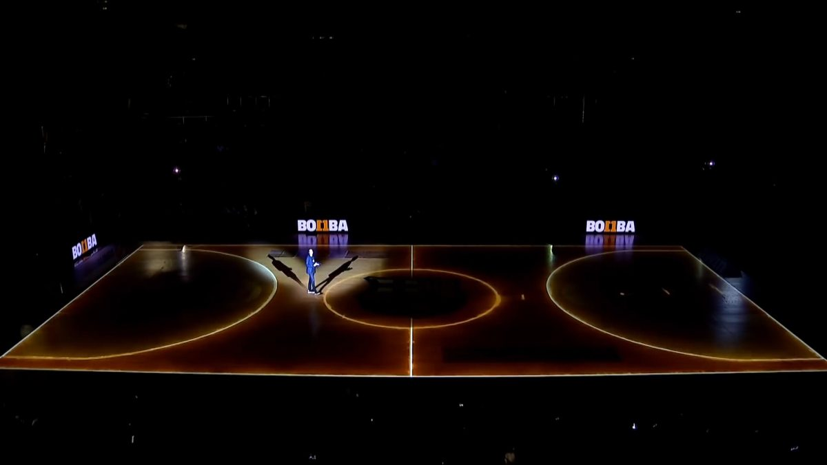 FC BARCELONA_ La Bomba Navarro _ Projection Mapping Basketball Court (03627)